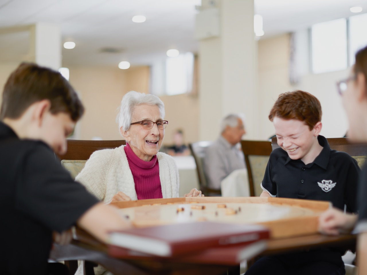 Students learn with seniors at Mount Academy